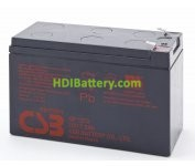 Batería para UPS-SAI 12v 7,2Ah plomo AGM GP1272 CSB